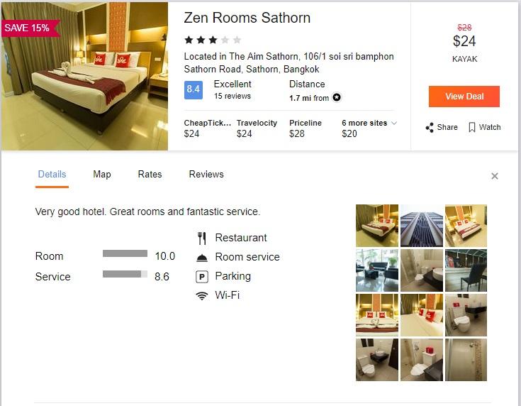 Cheap Three Star Hotel in Center of Bangkok