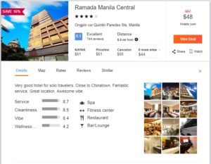 Hotel Deal Center of Manila Philiphines, 4-star Hotel