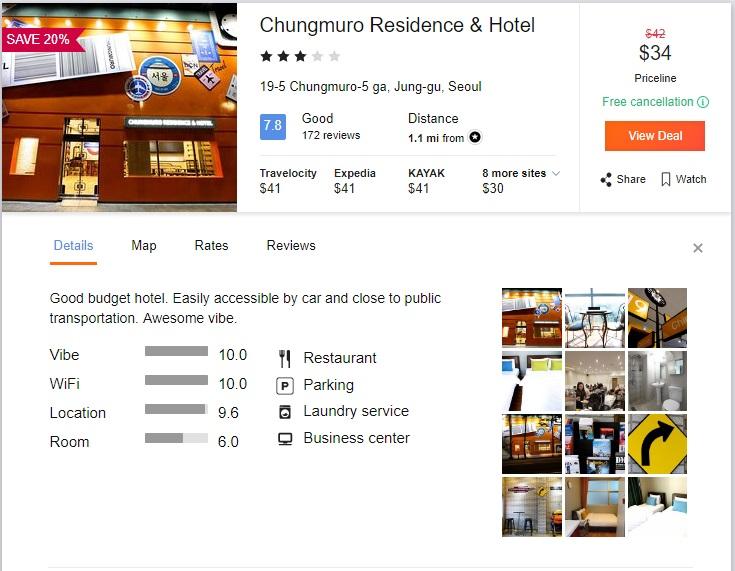 Cheap Accommodation Center of Seoul