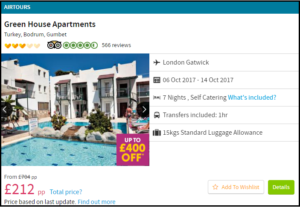 travel deal-holiday package
