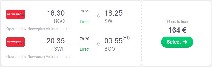 Flight Deal Error Fare Bergen New York