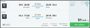 brussels-malta-cheapt flight tickets