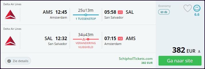 Cheap Flight Amsterdam to El Salvador