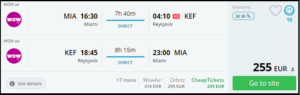 cheap flights-reykjavik