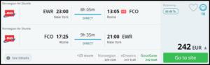 cheap flights- new york to rome
